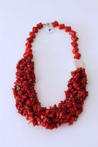 M&N_ collar_ bavoir_ coral_ rojo